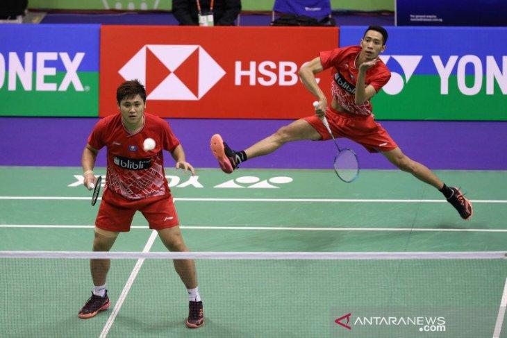Tim Indonesia raih emas bulu tangkis beregu putra
