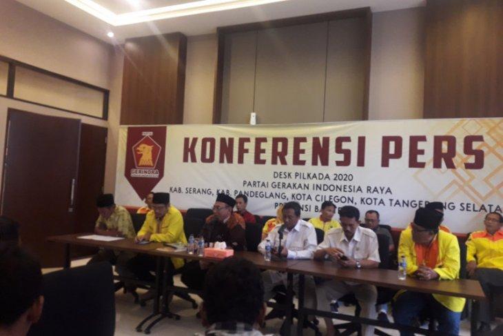Sejumlah bakal calon kepala daerah serahkan formulir ke Gerindra Banten