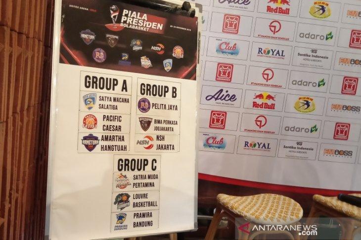 Undian Piala Presiden Bola Basket masukkan tiga tim playoff