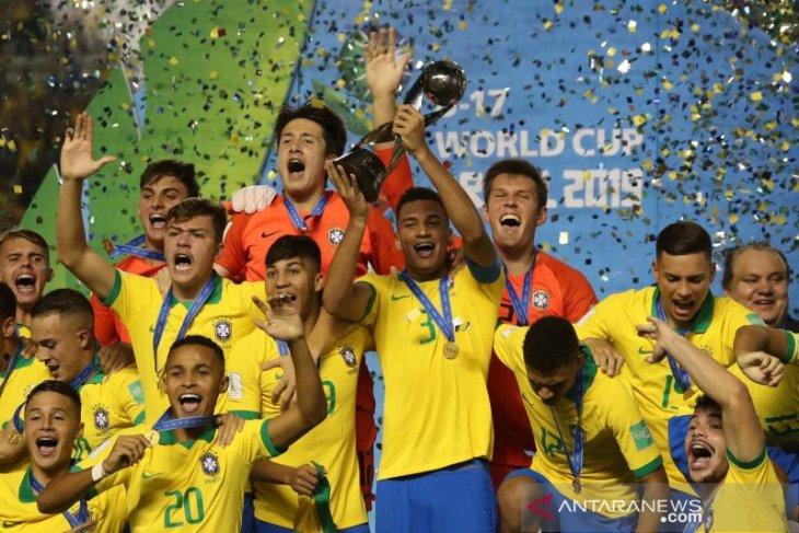 Kalahkan Meksiko,  Brazil juara Piala Dunia U-17