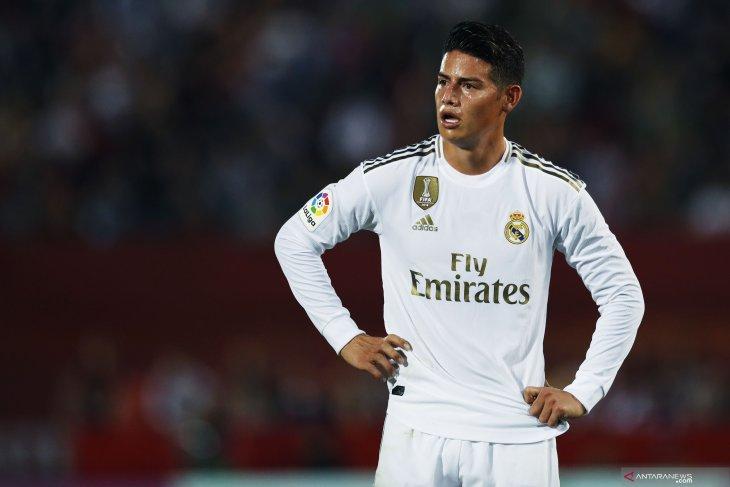 Gelandang serang Real Madrid James Rodriguez absen hingga akhir tahun, akibat alami cedera ligamen,