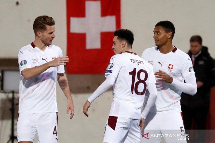 Lumat Gibraltar 6-1, Swiss melaju ke putaran final Piala Eropa 2020
