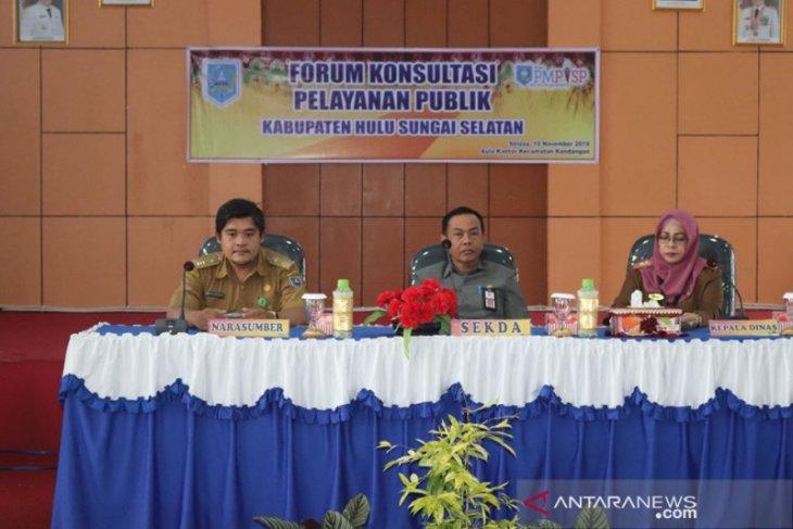 Sekda HSS buka forum konsultasi pelayanan publik