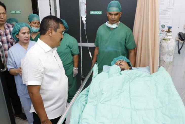 Wounded Densus 88 member still in Medan hospital