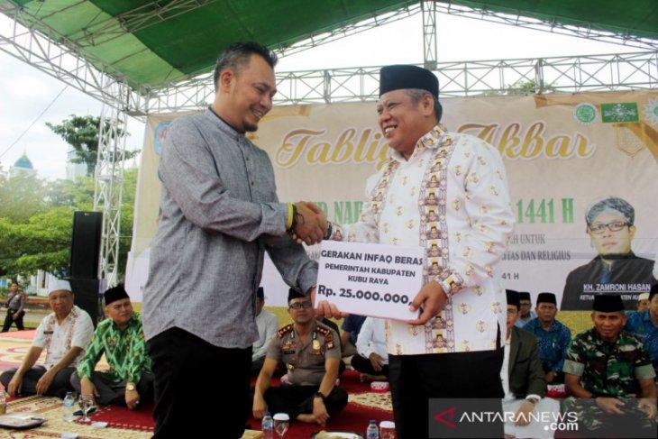 PNS Kubu Raya infak beras ke Baitulmaal Munzalan
