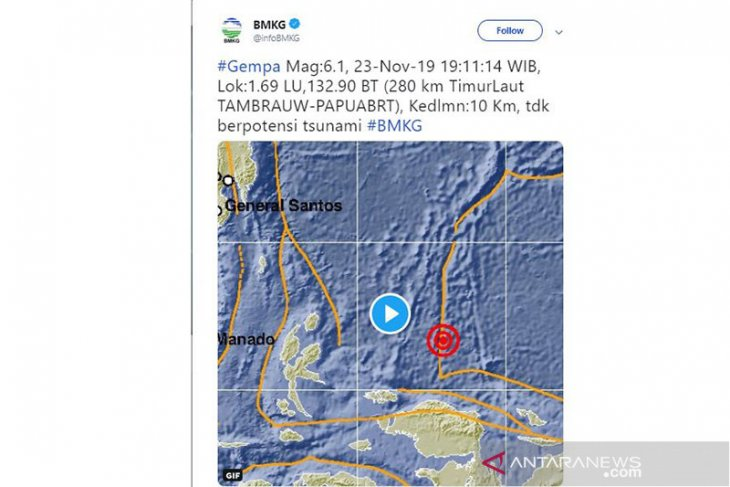 5.2-magnitude quake jolts South Bolaang Mongodow, North Sulawesi