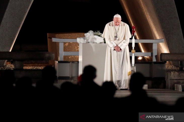 Paus Fransiskus dilaporkan negatif dari virus corona