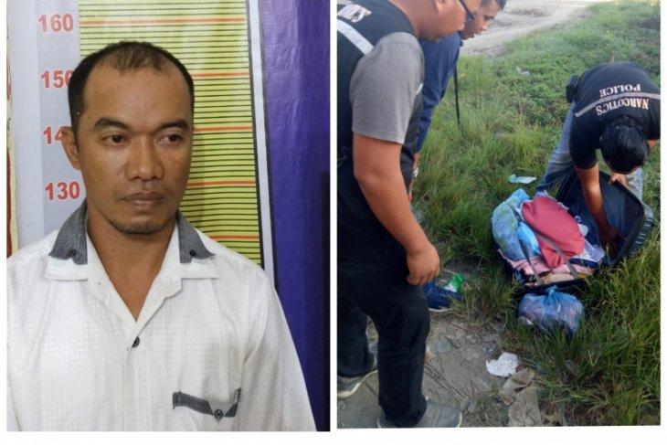 Warga Labura bawa ganja diringkus Polisi Langkat