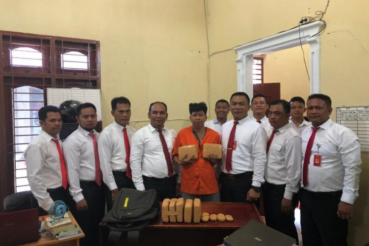 Satresnarkoba Polres Langkat tangkap warga Batam selundupkan ganja dari Aceh