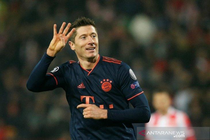 Empat gol Lewandowski warnai kemenangan Muenchen atas Red Star 6-0