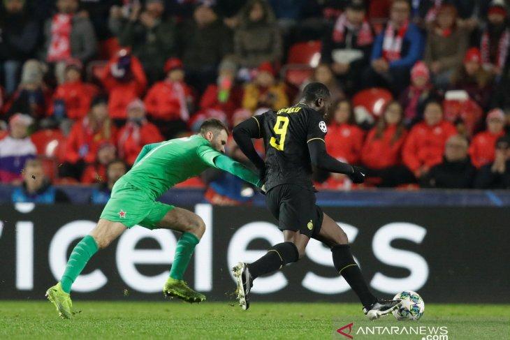 Liga Champions : Conte sanjung penampilan Lukaku dan Martinez usai menang 3-1 atas Slavia Praha