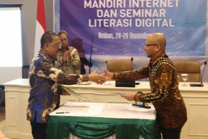 Pemkot Ambon dan  APJII tanda tangan kerja sama desa mandiri internet