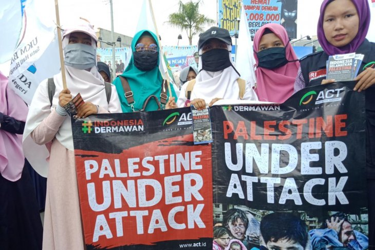 Tens of mass organizations rally to protest against Israeli aggression
