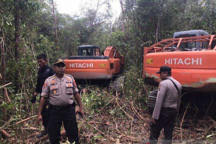 Polisi hentikan paksa perluasan kebun sawit