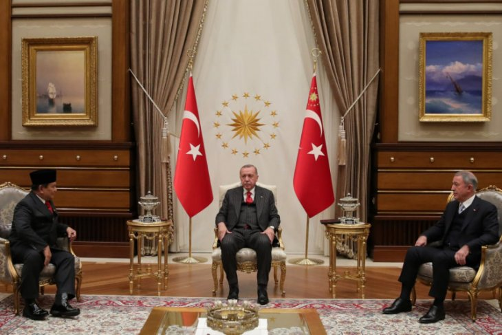 Prabowo bertemu Presiden Erdogan bahas penguatan kerja sama pertahanan