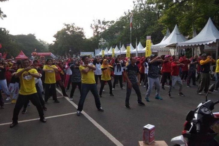 Pemkab Lebak gelar senam massal diikuti ribuan peserta