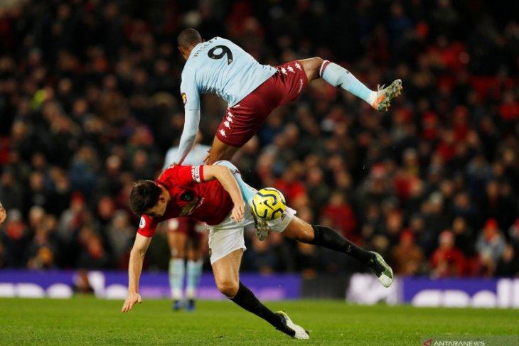 Manchester United ditahan imbang Aston Villa