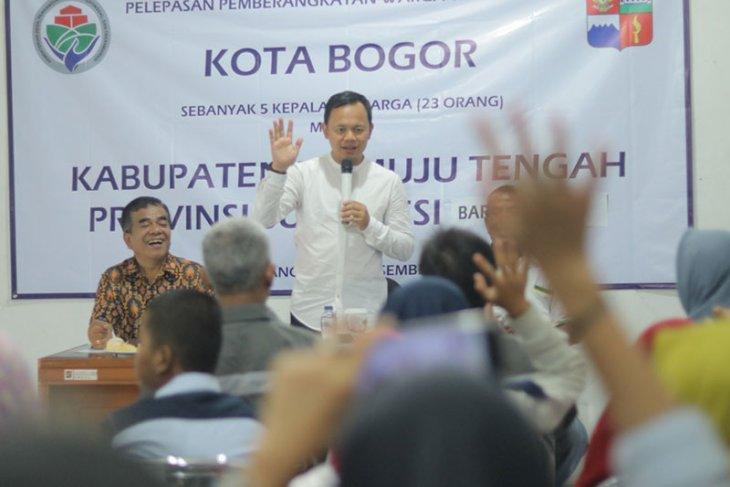 23 warga Kota Bogor ikut program transmigrasi ke Mamuju Tengah