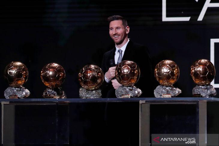 Lionel Messi menangkan Ballon d'Or untuk keenam kalinya