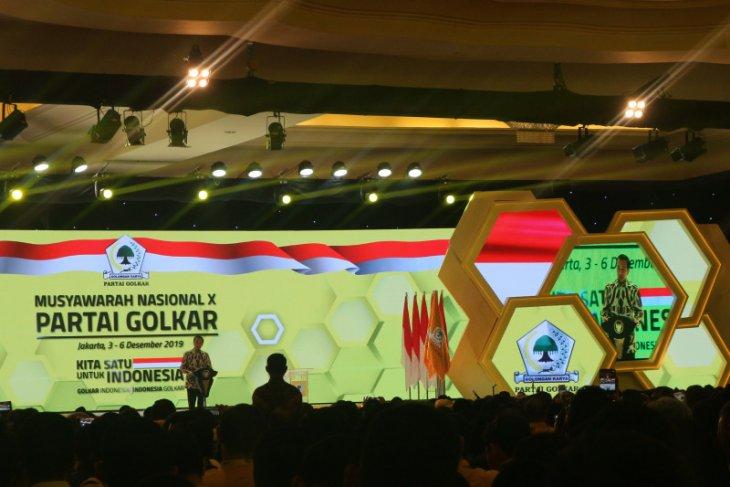 Presiden Jokowi apresiasi kesejukan dalam Munas Golkar