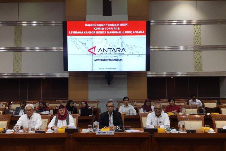 Komisi I DPR rapat dengar pendapat bersama Perum LKBN Antara