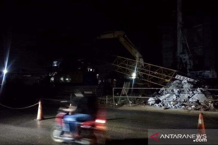Crane proyek Tol BORR Seksi IIIA di Bogor patah lagi