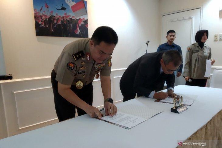 Polri-LKBN Antara menandatangani MoU bidang Kehumasan