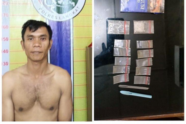 Polres Langkat amankan warga Hinai pemilik narkotika