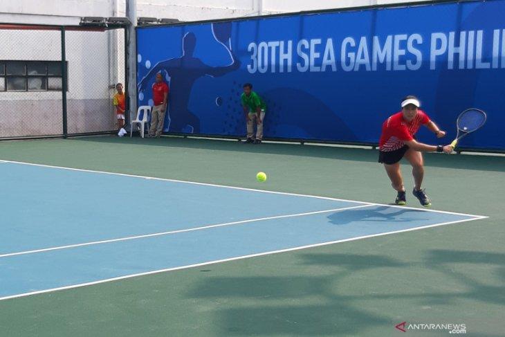 Aldila Sutjiadi meraih emas SEA Games 2019 dari tenis