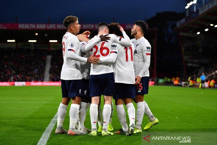 Pertajam rekor, Liverpool menang mudah 3-0 atas Bournemouth