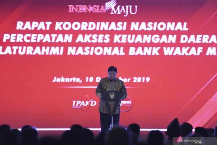 Menko Airlangga sebut akses layanan keuangan daerah masih timpang