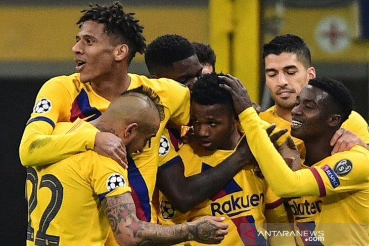 Liga Champions : Ansu Fati menangkan Barcelona dan kubur mimpi Inter ke fase gugur
