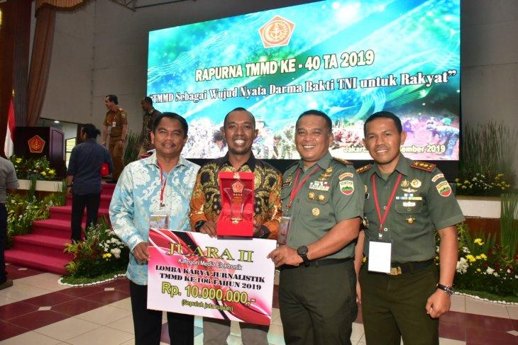 Raih juara II jurnalistik TMMD, Dandim dan Wabup Sergai apresiasi jurnalis