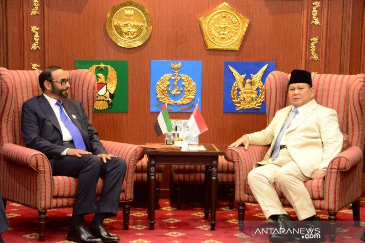 Menhan Prabowo ingin kerja sama industri pertahanan RI dan UEA