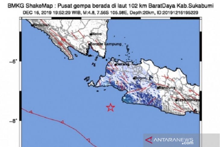 Magnitude 4.5 quake hits West Java's Pangandaran