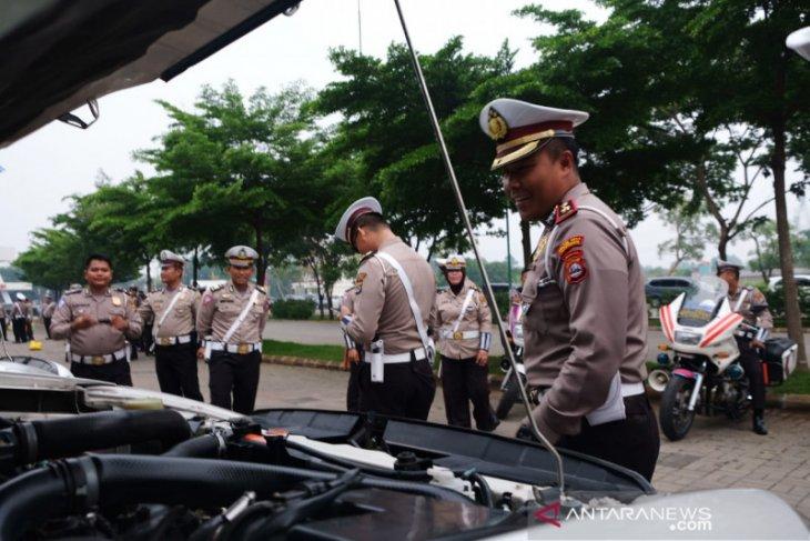 Polresta Tangerang periksa kelengkapan kendaraan jelang Operasi Lilin Kalimaya 2019