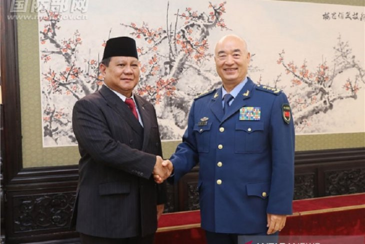 Subianto visits deputy chief of China's Central Military Commission