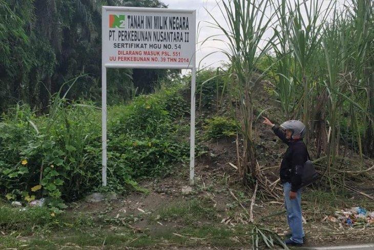 PTPN II salah obyek okupasi lahan eks HGU di Kelurahan Tunggurono Binjai