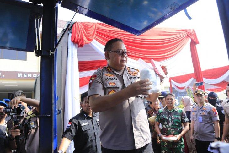 Polda Jatim musnahkan 28 kg barang bukti sabu-sabu
