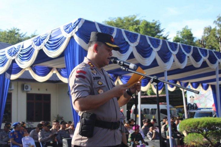 Kapolres tekankan jaga kesehatan selama Operasi Lilin Toba di Langkat