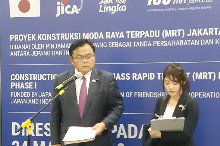 Japan minister hopes MRT to overcome traffic congestion in Jakarta