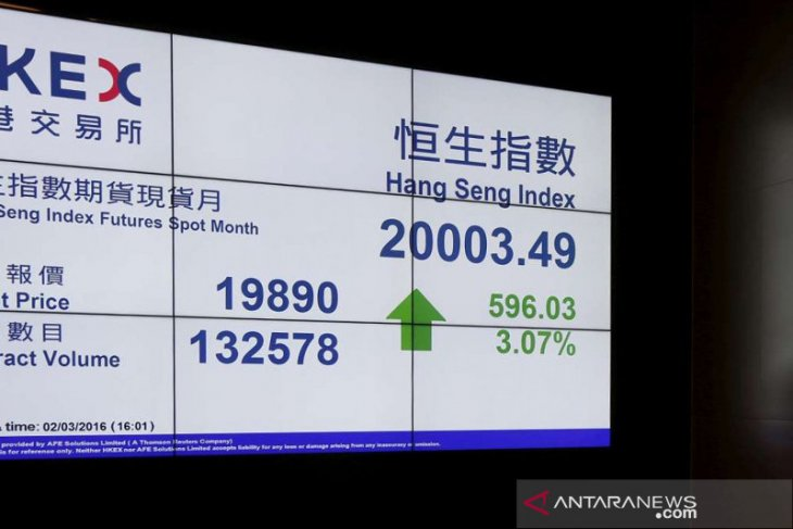 Saham Hong Kong menguat dengan indeks HSI terkerek 0,34 persen