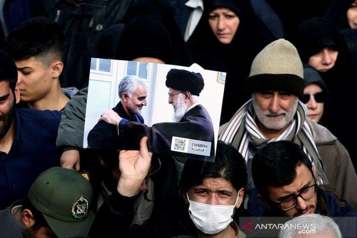 Rakyat Palestina di Gaza berkabung atas kematian Komandan Penjaga Revolusi Iran  Qassem Soleimani