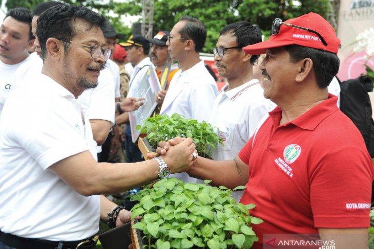 Di Denpasar-Karangasem, Mentan ajak masyarakat wujudkan pertanian maju dan mandiri