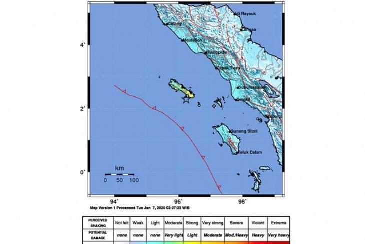 Gempa Magnitudo 6.4 guncang Sinabang,  sejumlah daerah di Sumut rasakan getaran