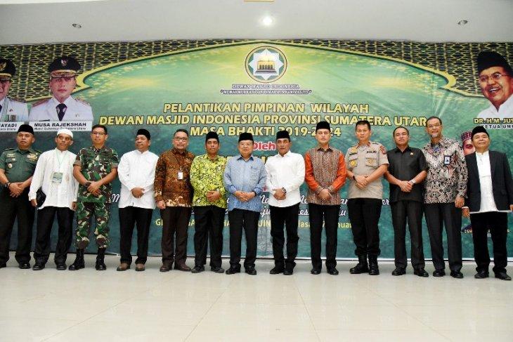 Jusuf Kalla lantik Dewan Masjid Indonesia Sumatera Utara