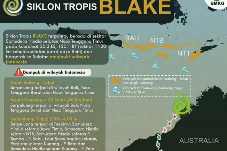 BMKG: Waspada siklon tropis wilayah Indonesia pukul 01.00 WIB