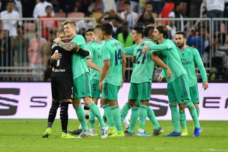 Madrid tekuk Valencia 3-1 pada semifinal Piala Super Spanyol