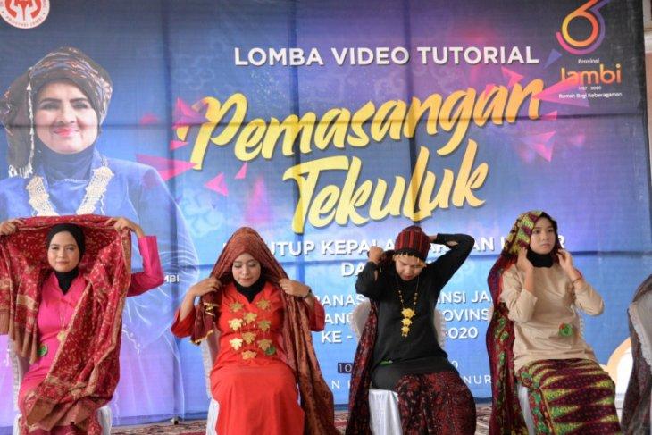 Sosialisasikan pemasangan tekuluk Jambi, Dekranasda gelar lomba video tutorial