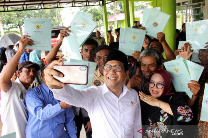 Menteri Desa harap sertifikat tanah pembagian jangan dijual